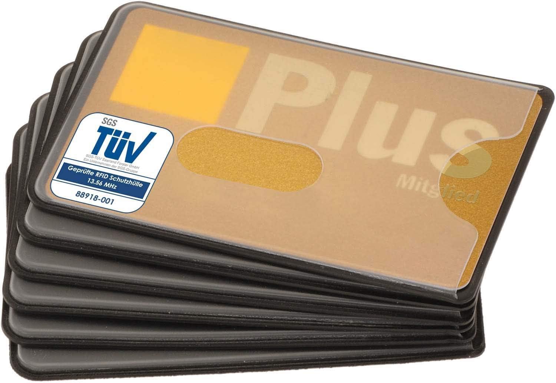 geschirmte Schutzhüllen für Bankkarten Kreditkarten 5x RFID NFC Blocker