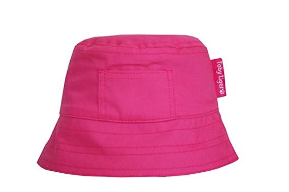 fbbba422874 Amazon.com  Toby Tiger Pink Cotton Baby Sun Hat  Clothing