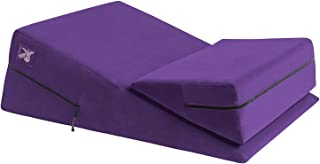 product image for Liberator Wedge & Ramp Sex Positioning Pillow Combo, Microfiber Purple