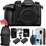 Panasonic Lumix DC-GH5 Mirrorless Digital Camera 8PC Accessory Bundle – Includes 64GB SD Memory Card + 2x Replacement Batteries + DigitalAndMore PRO BUNDLE