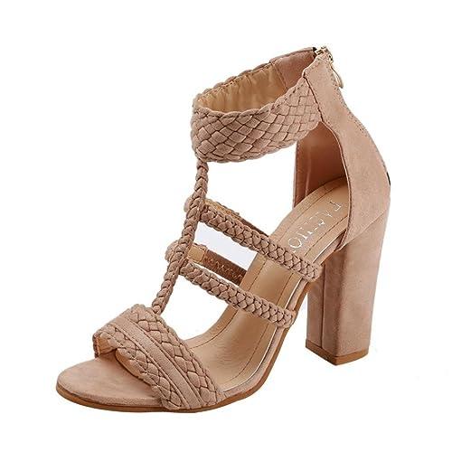Para estrenar 88330 e50b6 Cinnamou Zapatos De TacóN Alto De Fiesta Sandalias Elegantes ...