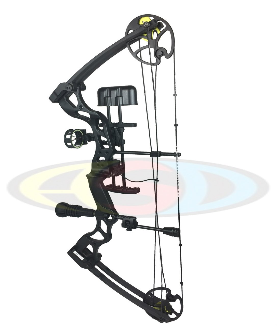 ASD Black Pro Series Adult Archery Compound Bow 70lbs ** COMPLETE PACKAGE ** Archery Supplies Direct