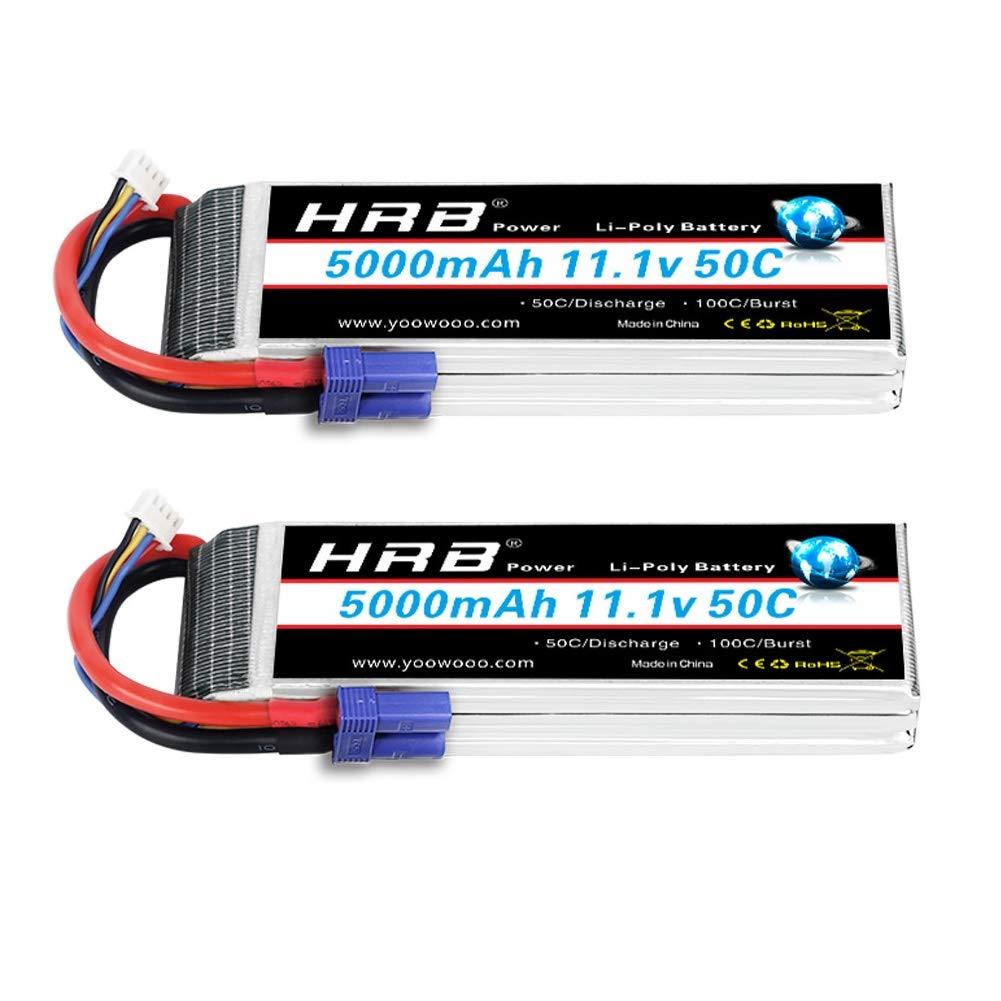 Baterias Lipo (2) 11.1v 5000mah Rc Hrb