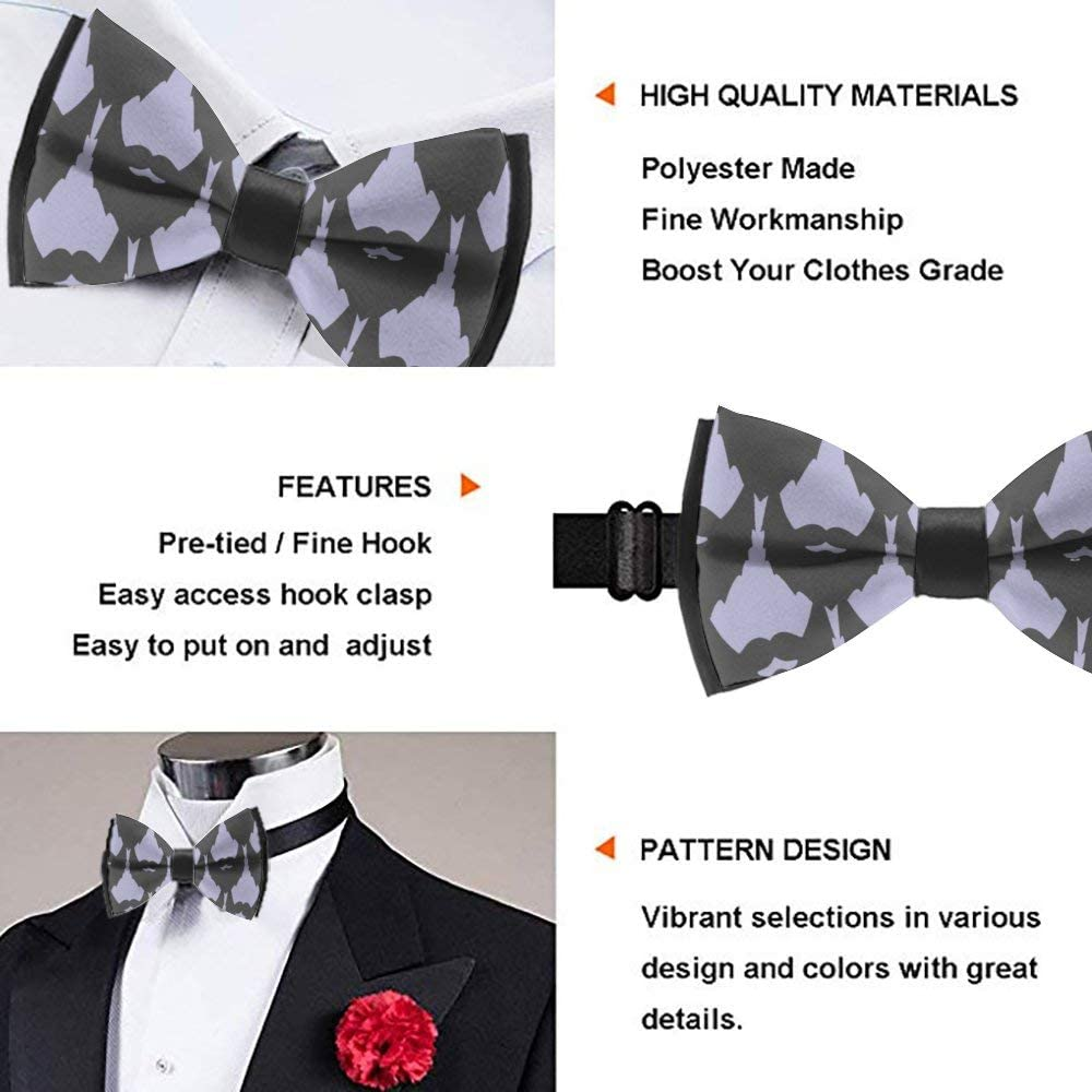 Mens Formal Suit Tuxedo Bow Tie Casual Novelty Cravat for Party Business