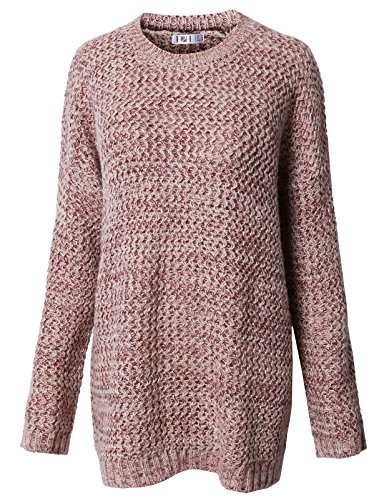 H2H Womens Soft to The Touch Solid Long Sleeve Crew Neck Twist Patterned Knitted Sweater TAWNYPORT US 2XL/Asia 2XL (KWOSWL038) (Crew Solid Twist)