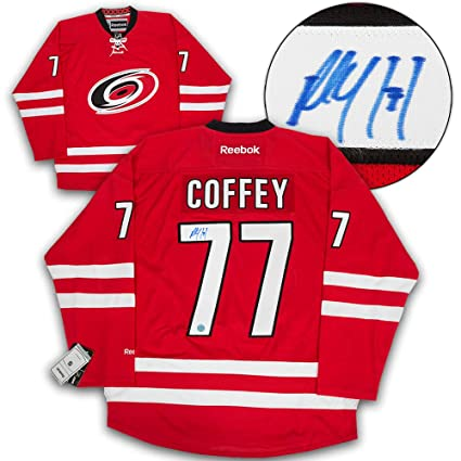 Image Unavailable. Image not available for. Color  Paul Coffey Carolina  Hurricanes Autographed Autograph Reebok Premier Hockey Jersey ... 32fa75f5e