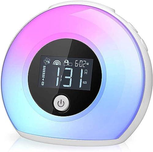 Wake Up Light Bluetooth Speaker Alarm Clock