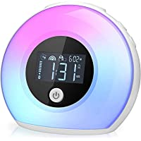 Wake Up Light Bluetooth Speaker, Table Lamp Alarm Clock, Night Light Bluetooth Speakers Lamp, Dimmable Warm Light…