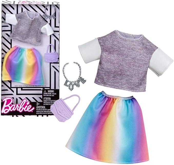Amazon.es: Set Camisa y Falda Colorida | Barbie | Mattel FKT03 ...