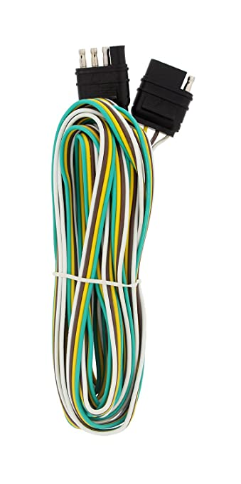 61QG60oZFcL._SY679_ amazon com abn trailer wire extension, 20' foot, 4 way 4 pin plug
