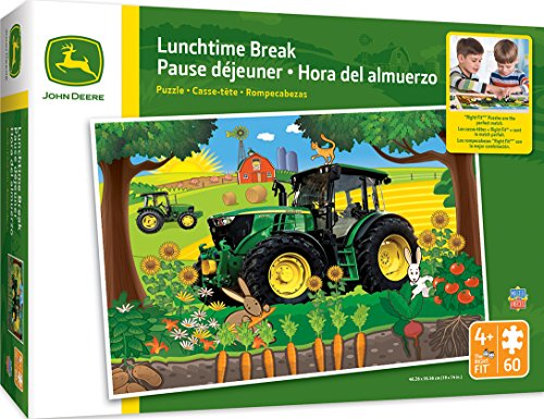(MasterPieces John Deere Lunchtime Break - Tractor 60 Piece Kids Puzzle)
