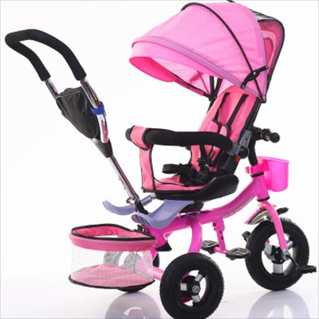 子供屋内屋外小型三輪車自転車の男の子の自転車の自転車6ヶ月-5歳の赤ちゃんスリーホイールトロリー、ダンピング/回転シート/アルミニウム合金のゴム製の車輪 (色 : 3) B07DVDW94H 3 3