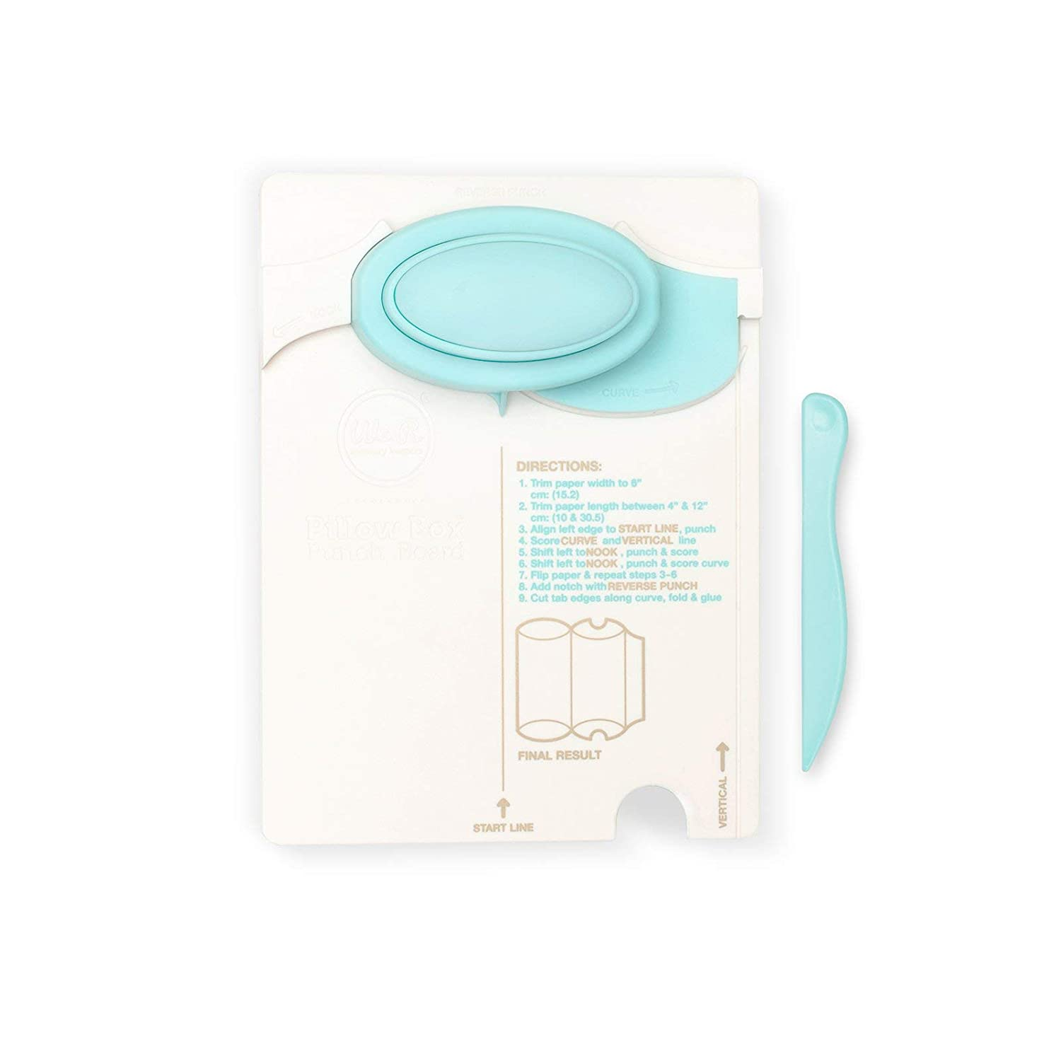 We R Memory Keepers Pillow Box Punch Board Includes punch board and detachable scoring tool