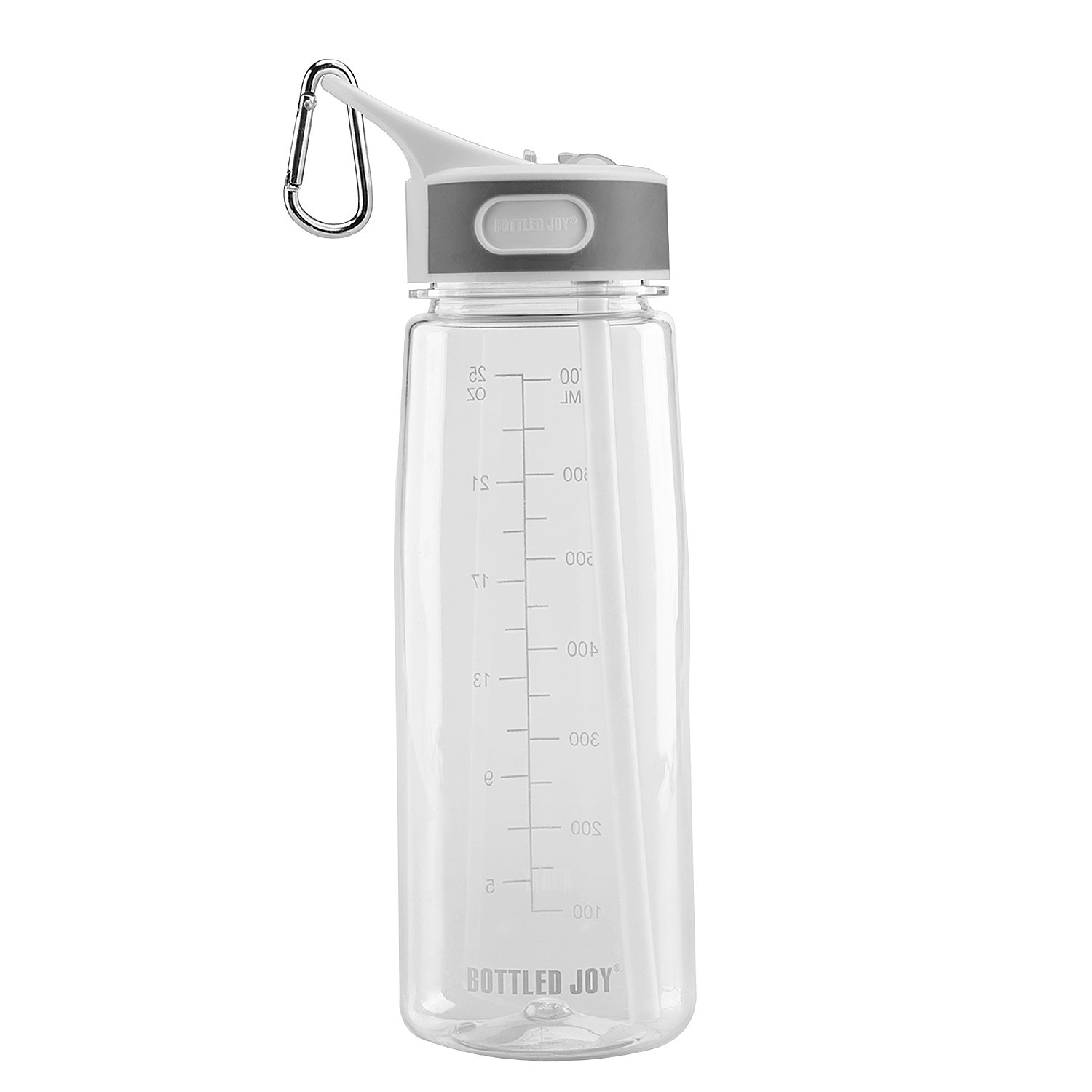 Spill Leak Proof Tritan Sports Drinking Water Bottle For Camping Gym Bicycle Home Office 27oz Ounce 800ml BOTTLED JOY BRP FREE Sports Bottle With Flip-top and Mixed Ball