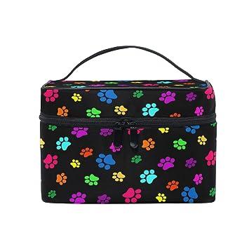 Amazon.com: Bolsa de viaje para cosméticos, colorida ...