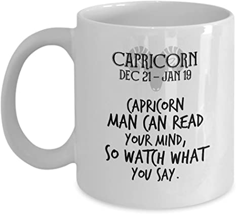 Sthstore Capricorn Man Can Read Your Mind So Watch What You Say For Dec 22 Jan