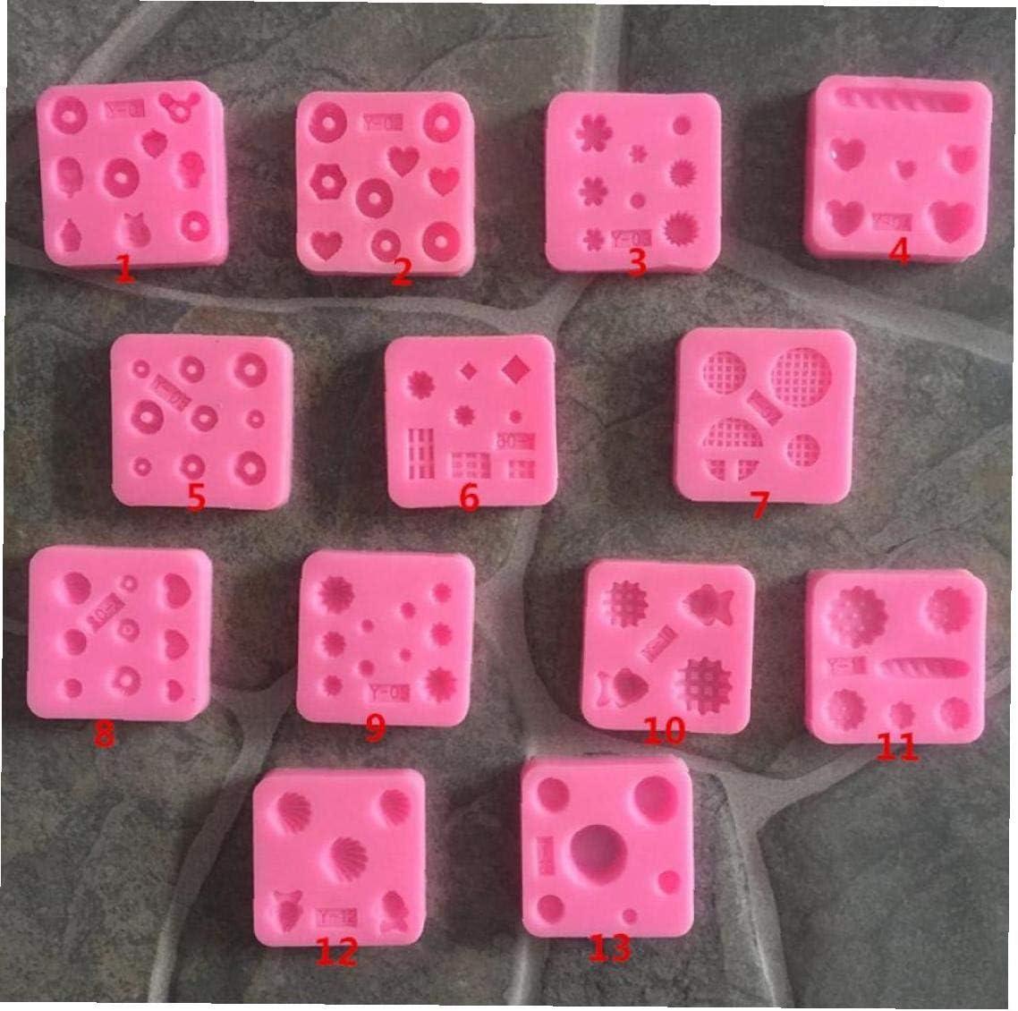 Mini Molde del silicón de la Piedra Preciosa Miniatura de Alimentos Dulces Pasta de azúcar joyería Arcilla Fimo Moldes para Hornear Caramelo