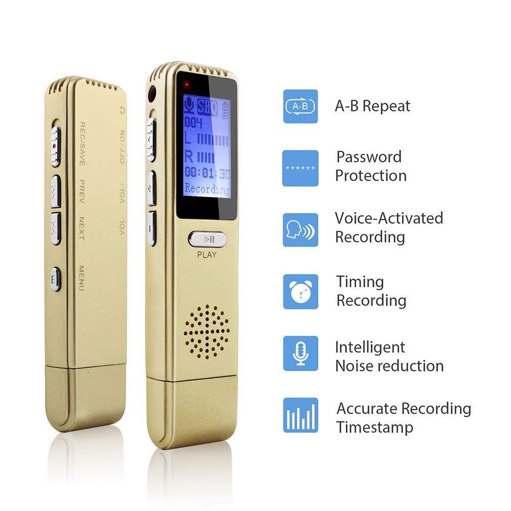 Grabadora de voz digital, 8 GB de grabación de voz USB ...