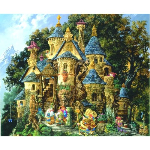 College of Magical Knowledge 1500 pc Castle Jigsaw Puzzle by Sunsout