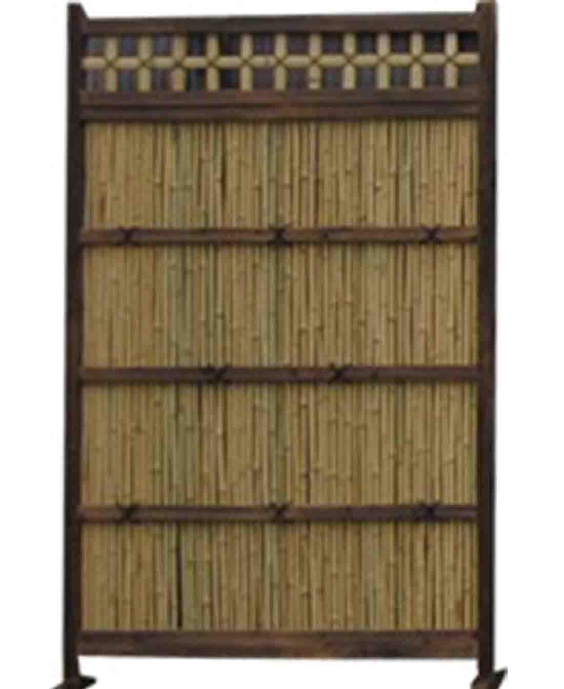竹垣袖垣 お庭を和風に演出 竹垣(幅120cm×高さ190cm)※メーカー直送 B00JQVWT8A 23800