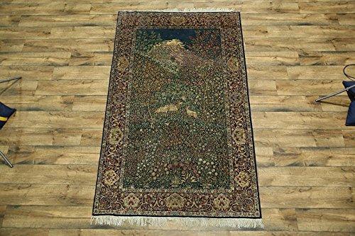 Pre-1900 Collectible Antique 5x8 Kerman Floral Hand Made Ravar Persian Area Rug (8' 4'' x 5' 2'')