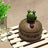 LT Snail Frog Turtle Caterpillar Covered Ashtray Creative Resin Garden Fashion Gift for Boyfriend (Color : Frog)