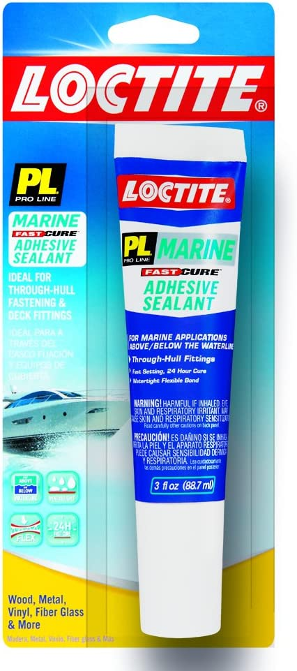 Loctite PL Marine Fast Cure Adhesive Sealant, 3 Ounce Squeeze Tube (2020627)
