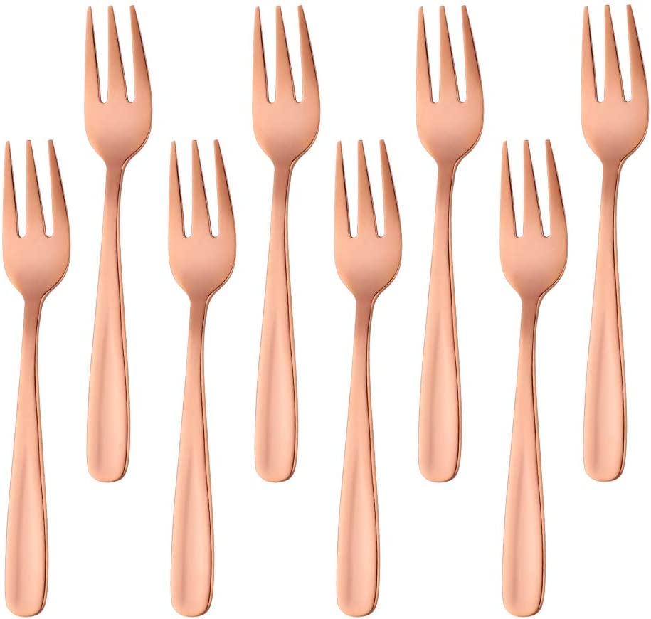 Black Set of 8 Do Buy 5.5 Inch Salad Forks Appetizer Forks Dessert Fork