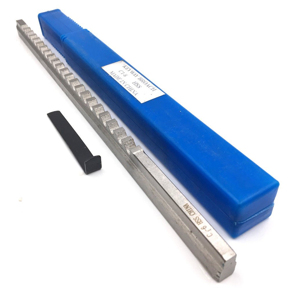 HSS Keyway Broach 6mm C Push-Type Metric Size Dimension 9.64x298.5mm with Shim High Speed Steel
