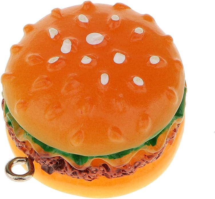 12pc Set Kunststoff Hamburger Simulation Dekoration Kinder