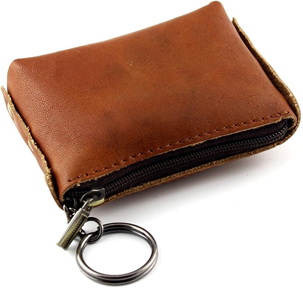 Women Ladies Vintage Genuine Leather Coin Notes Change Pouch Wallet Holder