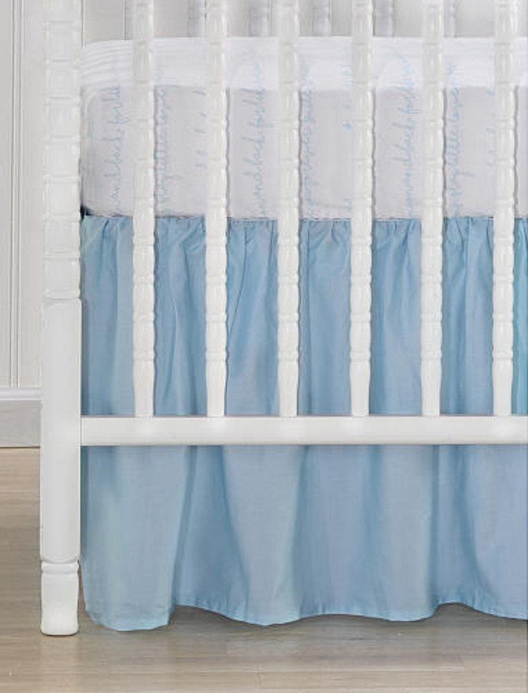 CoCaLo Collection Aqua Blue Cotton Sateen Dust Ruffle TG Valentine