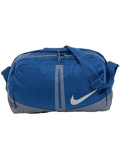 ce09dcbd1a69 Amazon.com  Nike Run Duffle Bag - Blue Jay Armory Blue Silver  Sports    Outdoors