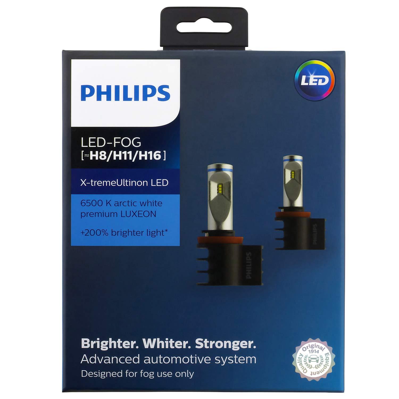 Philips 12794UNIX2 X-tremeUltinon 2 Pack ((H8/H11/H16) LED Fog Light Kit, 2 Pack