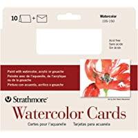 """Strathmore 105-150-1 Watercolor Cards, Cold Press, 5"""" x 6.875"""", 10 Cards and Envelopes"""