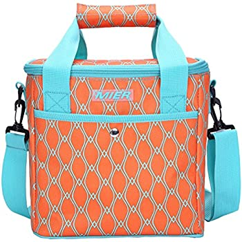 MIER 9 Can Insulated Lunch Bag for Women Leakproof Soft Cooler Tote, Orange