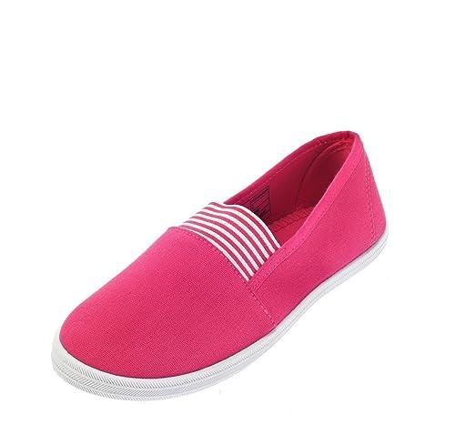 Khadims Women's Pink Canvas Sneakers