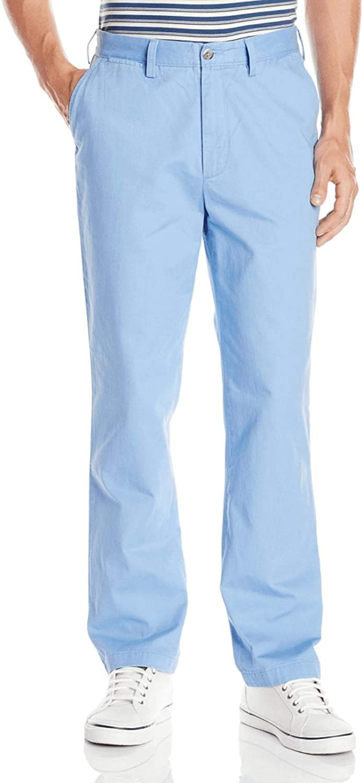 Nautica Mens Twill Flat-Front Pant