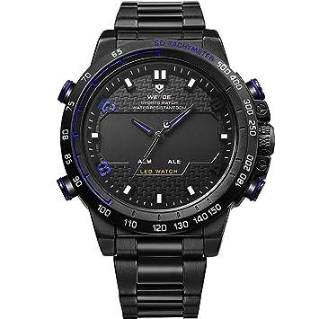 WERTY&K Reloj Digital Deportivo para Hombre - Reloj Multifuncional Analógico Electrónico Impermeable - Vestido Casual De