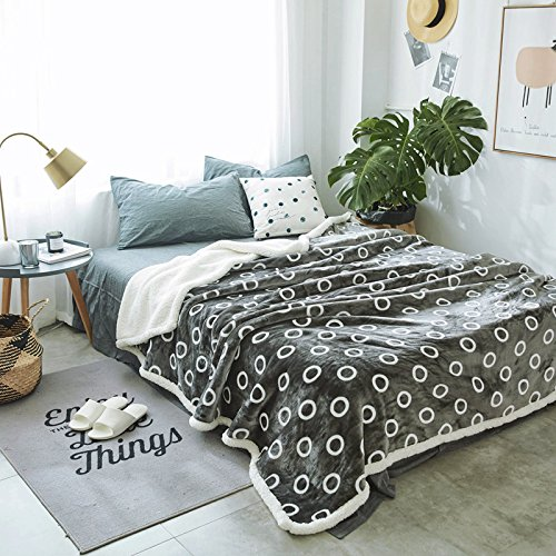 Znzbzt lambs fleece blanket flannel double thick coral fleece blankets twin size bed twin baby infant two winter ,100x120cm 1.2 pounds baby blanket, Circle by Znzbzt