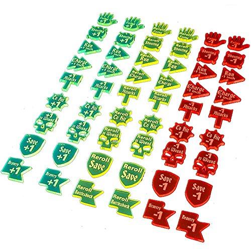 AoS: Buffs & Debuffs Token Set (54) by Litko Game Accessories