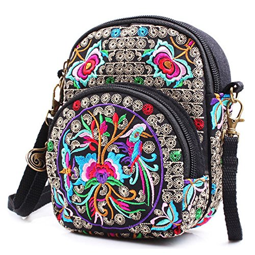Hipster Flower Bag Donalworld Girl Purse Cloth Straw Pt3 Crossbody Pz5U5wq