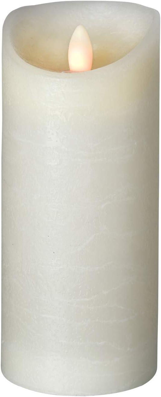 H/öhe:10 cm Fernbedienbar /Ø 7,5 cm Echtwachs Timerfunktion sompex Shine LED Kerze in verschiedenen Gr/ö/ßen Multi LED Technik Elfenbein Frost |