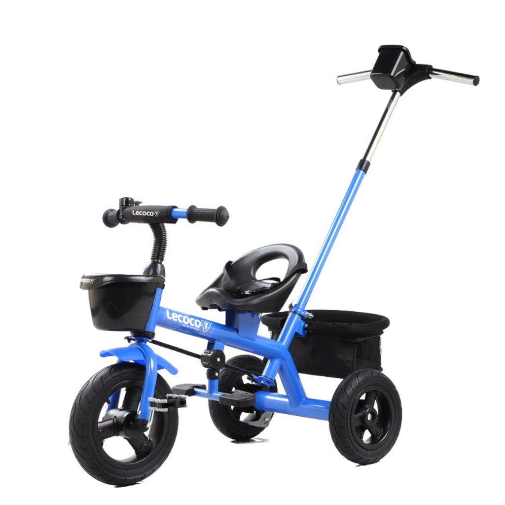 XQ 子供の三輪車の自転車キッズバイク3-6歳のパターのシートベルトは強い 子ども用自転車 ( 色 : 青 ) B07CG87DP4 青 青