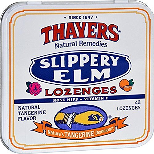 - Thayers Slippery Elm Lozenges, Tangerine, 42 Count (Pack of 10)