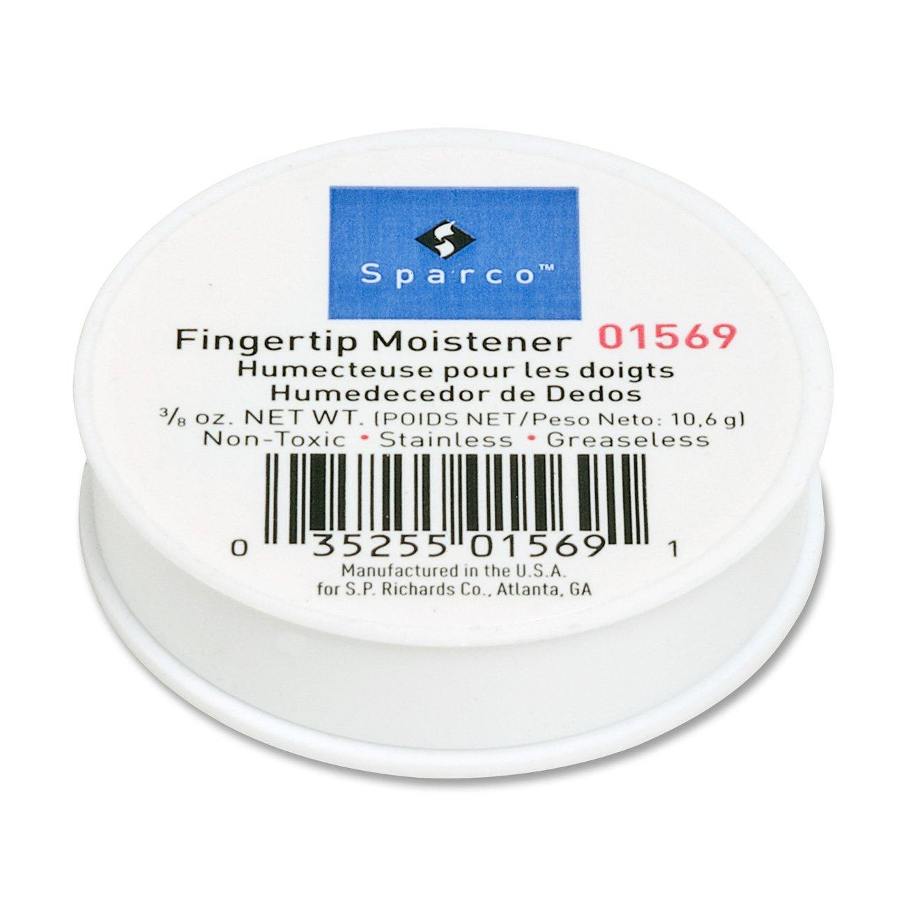 S.P. Richards Company Fingertip Moistener, Odorless, Greaseless, Hygienic, 3/8 oz. (SPR01569)