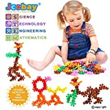 Puzzles for Kids, Jcobay Interlocking Building Blocks Preschool Educational Toys Solid Plastic Toddler Games Learning Stem Toy Construction Building Toy Set Gifts with 90 PCS for Girls, Boys Aged 3+