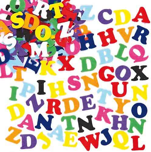 Self-Adhesive Felt Upper Case Letters, 23mm for Children's Crafts & Card Making (Pack of 550)