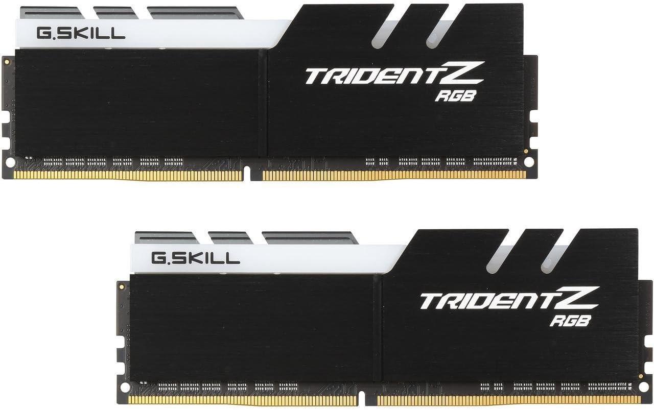 288-Pin DDR4 SDRAM DDR4 3200 PC4 25600 2 x 16GB G.SKILL TridentZ RGB Series 32GB Desktop Memory Model F4-3200C16D-32GTZRX