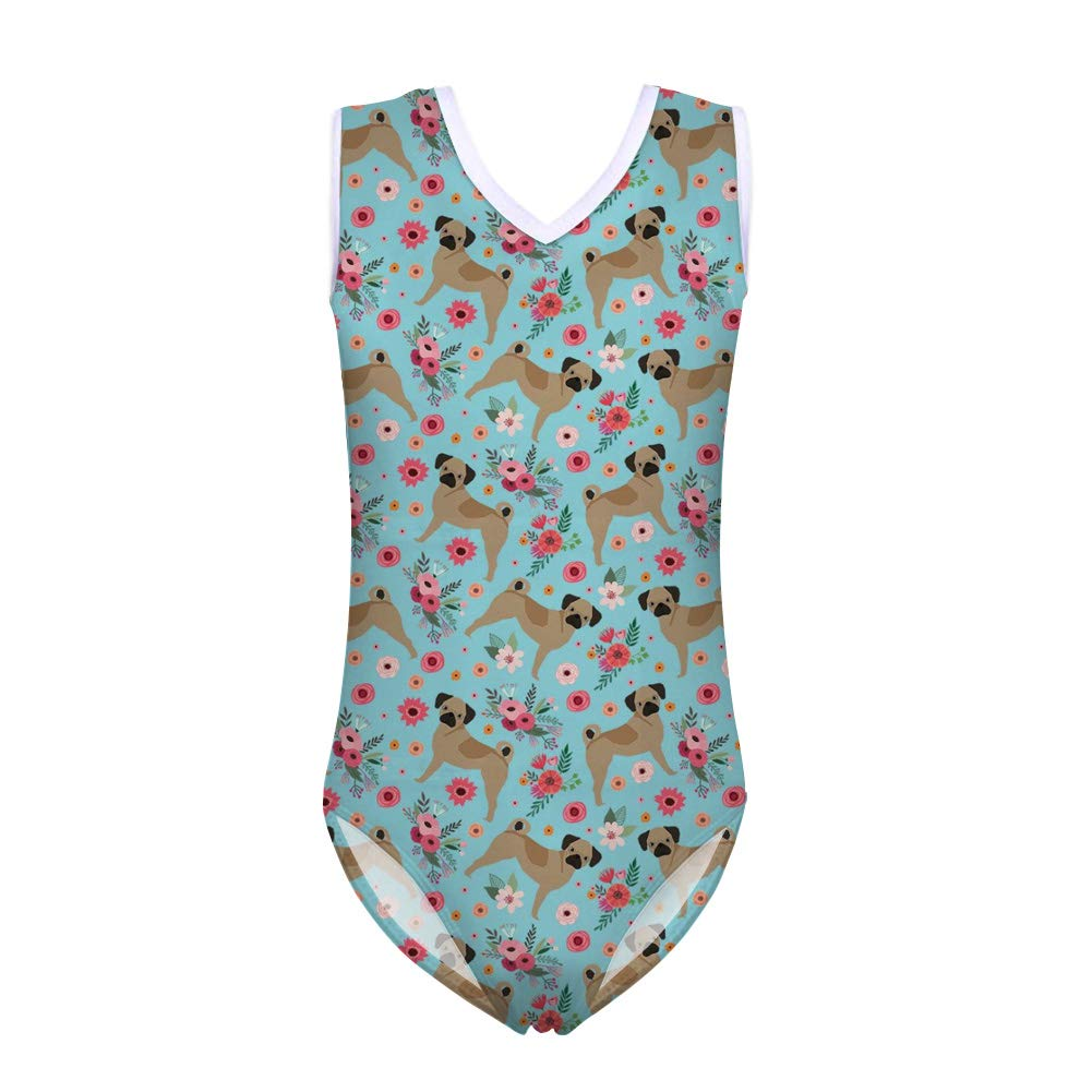 BIGCARJOB Infinity Girls Push-up Swimsuit One Piece Sleeveless Swimwear Gymnastics Dancing Uniform 5-14years
